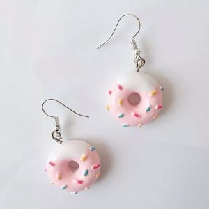 🍩 Pink Sprinkles Donuts Dessert Unique Earrings